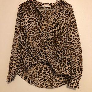 Long sleeve cheetah shirt